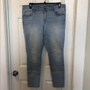 Old Navy Rockstar Skinny jeans in light denim